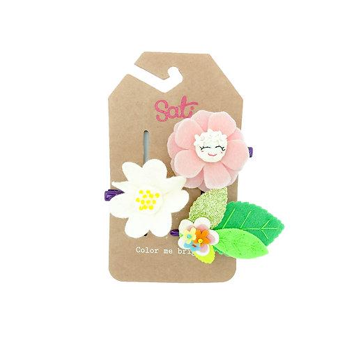 Flower Garden Hair Clip