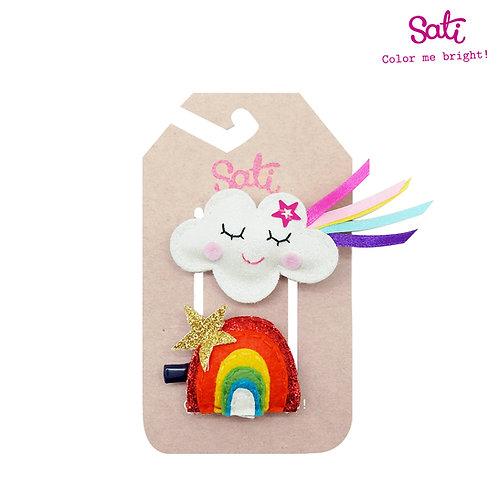 Cloud & Rainbow Hair Clip