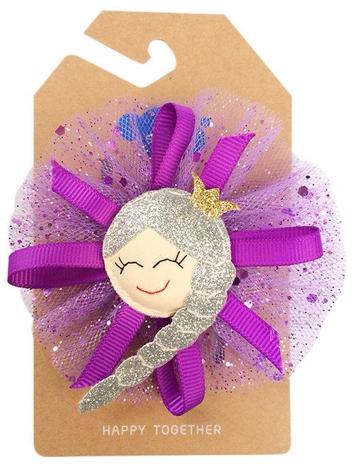 Arctic Princess Belle (Purple Tulle) Hair Clip