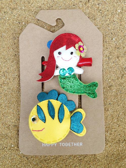 Mermaid & Her Best Friend Hair Clip