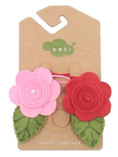 Valentine Rose Ponytail Holder