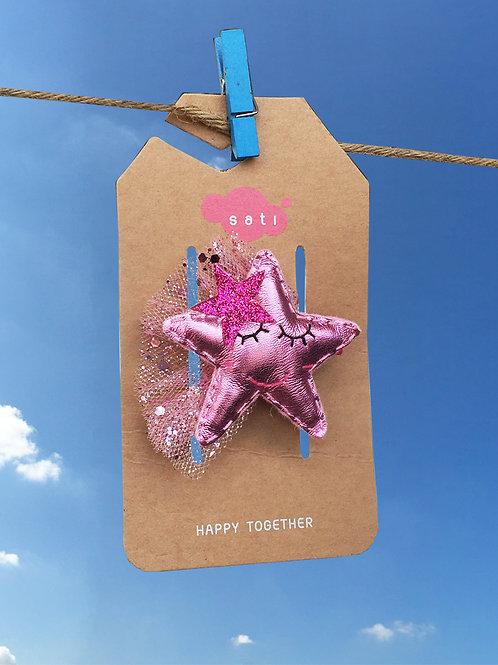 Pink Star Hair Clip