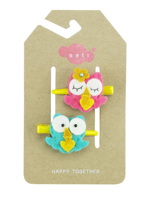 Valentine Baby Owl Hair Clip
