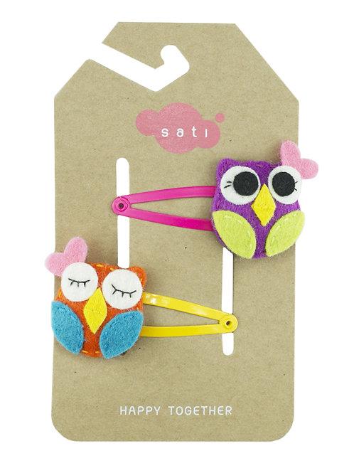 Valentine Owl Hair Clip