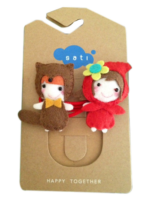Little Red Riding Hood & Wolf Ponytail Holder