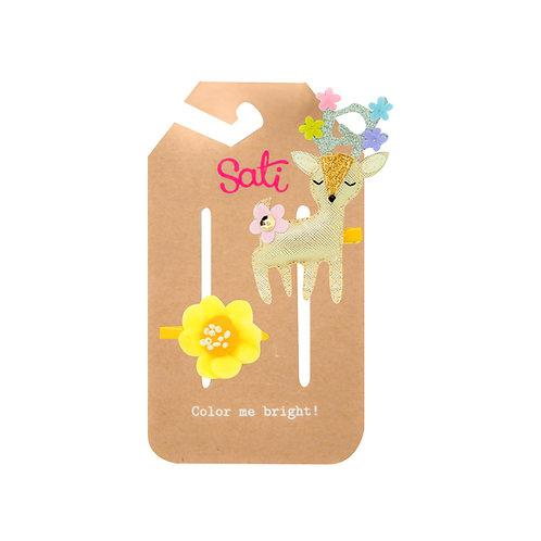 Golden Bambi Hair Clip