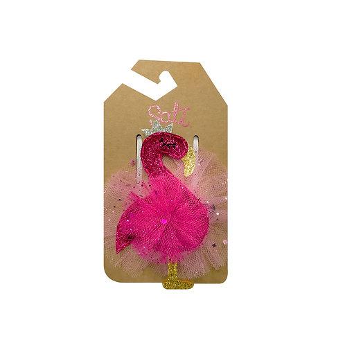 Pinky Flamingo Hair Clip