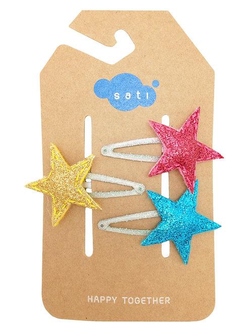 Shiny Stars Hair Clip
