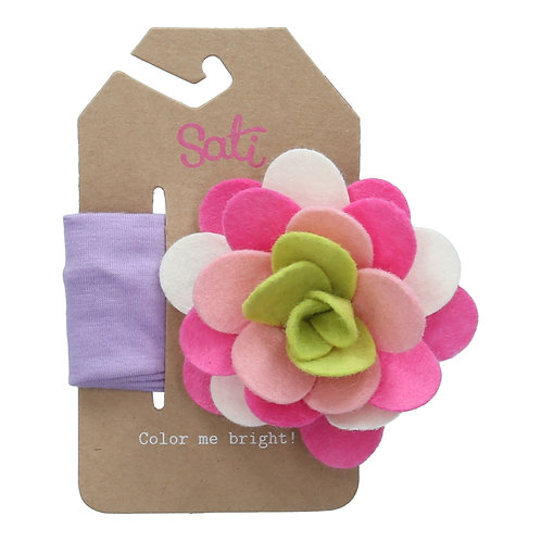 Lilac Blossom (Violet) Headband (size 3 to 36 months)