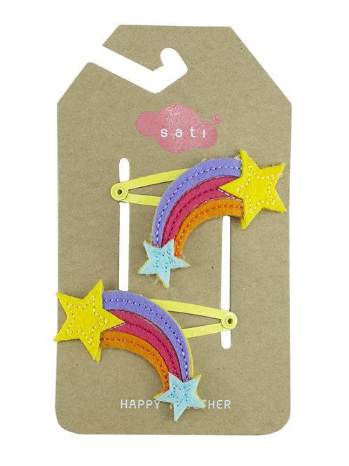 Rainbow Shooting Star Hair Clip