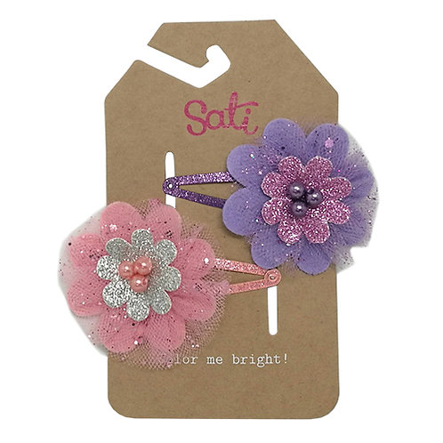 Celebrate Flower (Purple/Pink) Hair Clip