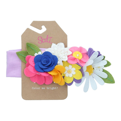 Flower Bed Headband (size 3 to 36 months)