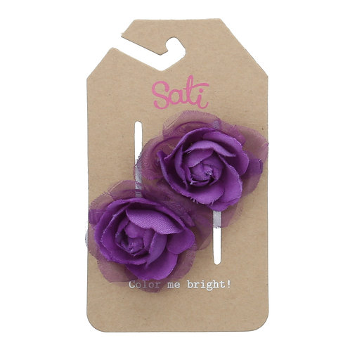 Violet Rose Hair Clip
