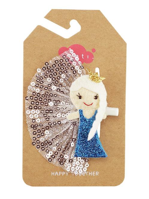 Arctic Princess Belle Hair Clip