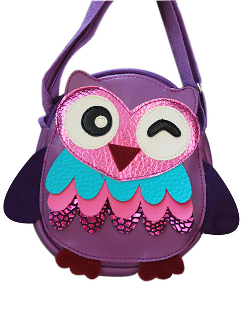 Little Owl (Violet) Shoulder Bag