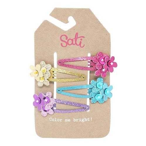 Glitter Flower Set Hair Clip