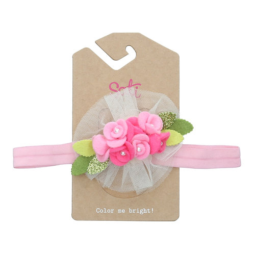 Sweet Pink Flower Headband (size 3 to 24 months)
