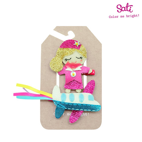 Sati Airline Hair Clip