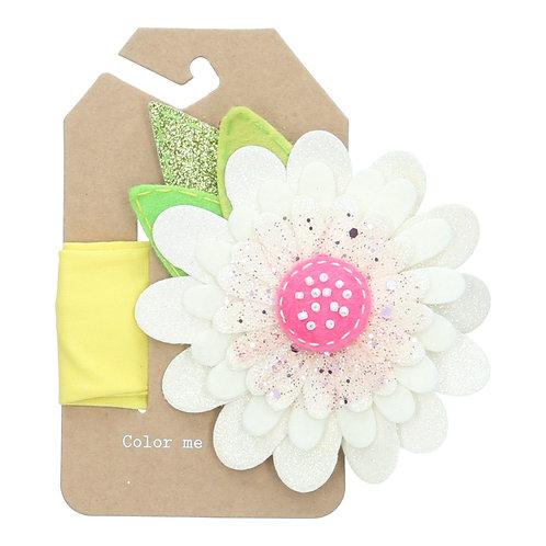 Celebrate White Glitter Flower Headband (size 3 to 36 months)