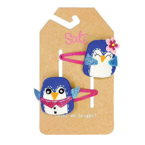 Xmas 2020 Cute Penguin Hair Clip