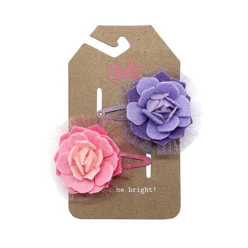 Neon Rose Hair Clip