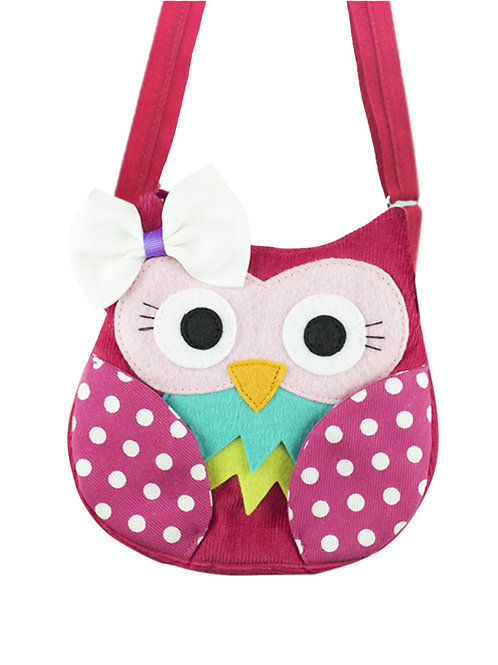 Little Owl ( Pink Polka Dot ) Shoulder Bag