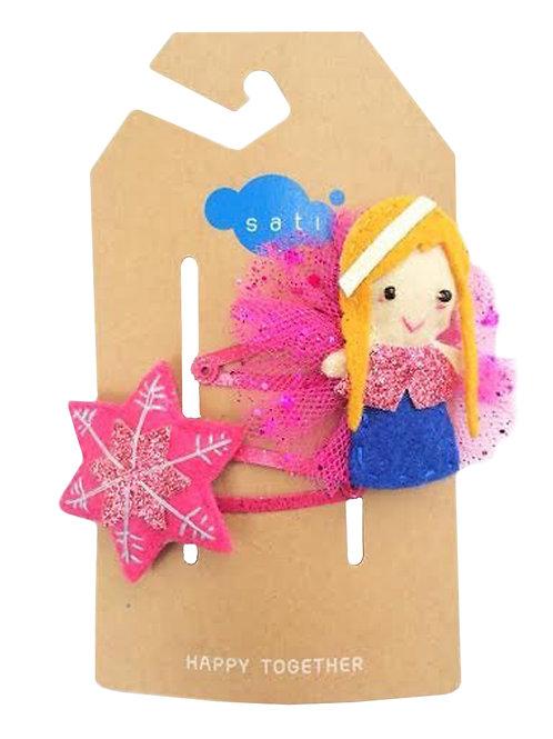 Arctic Princess Anne & Snowflake Hair Clip