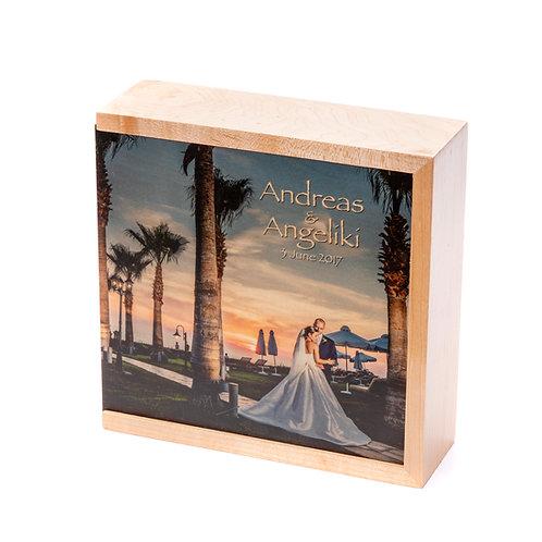 Maple Wooden USB Photo Box