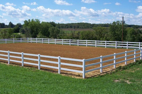 400' of 3 Rail Vinyl Horse Fence