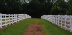 Vinyl Horse Fence