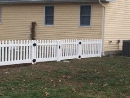 4' high Wide Picket Double Gate