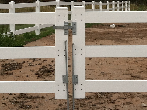 Double Drive Gate Latch with Drop Pins