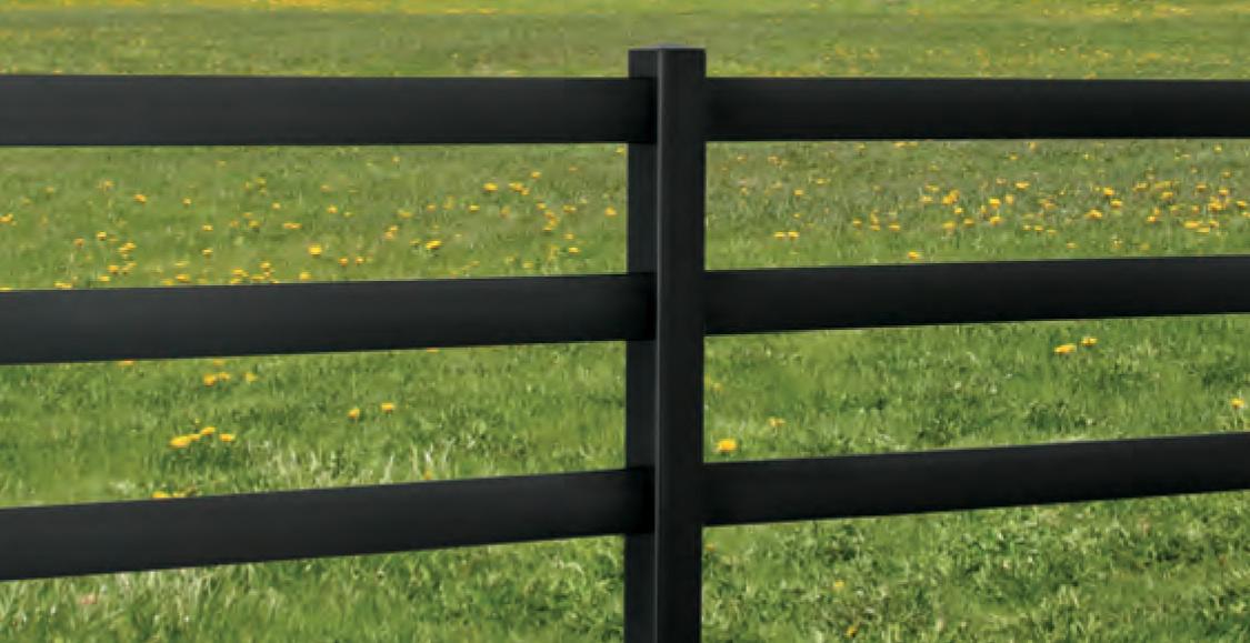 Black Vinyl Fence