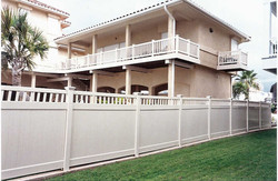 Tan Privacy Fence