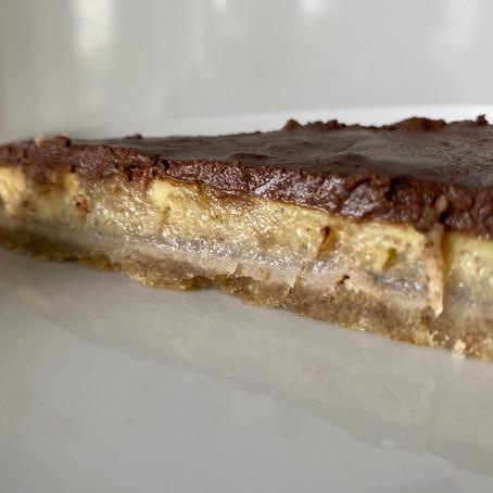 Tarte chocolat banane sans sucres ajoutes, sans gluten et sans lactose