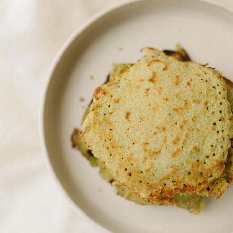 Pancakes au Matcha