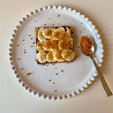 Tartine banane & pollen