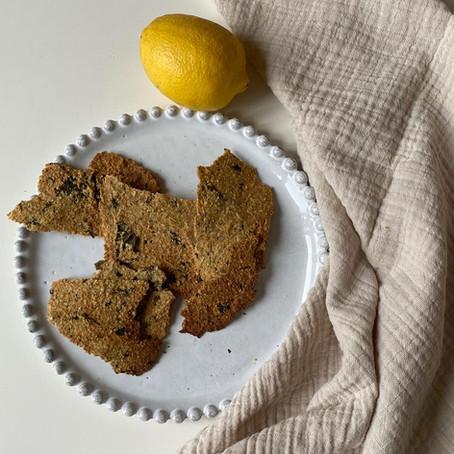 Crackers aux algues et au citron sans gluten