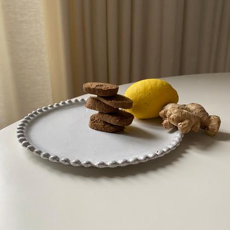 Sablés au citron et gingembre vegan et sans gluten (FR & EN Versions)