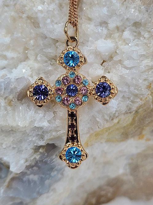 Mariana Swarovski Crystal Cross Necklace