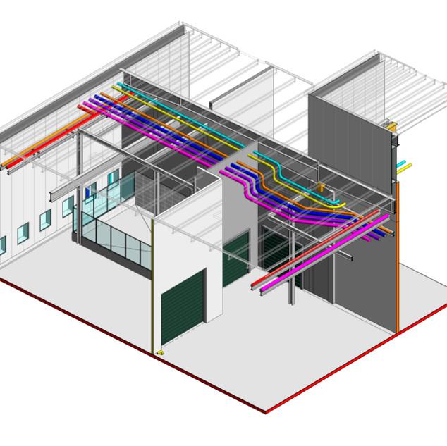 Compatibilização BIM da entrada das VG's com as interferencias das estruturas metálicas e demais disciplinas.
