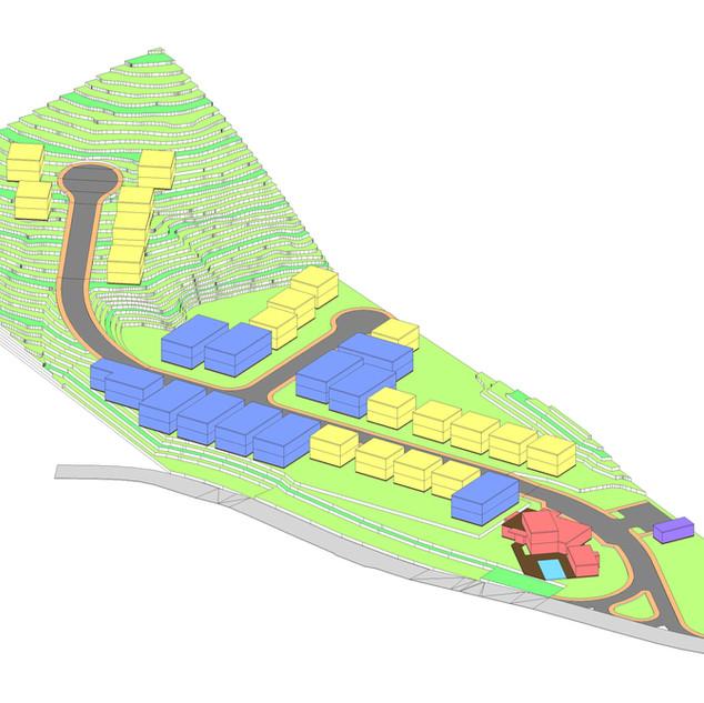 Modelo volumétrico de ocupação de terreno