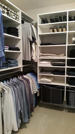 Closet after J