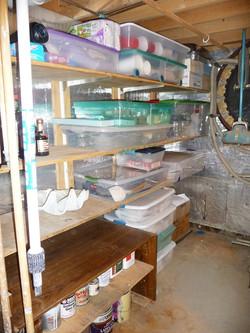uncluttered basement