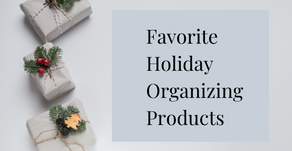 Favorite Holiday Organizing Products