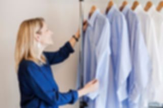 Yve organizing shirts (2).jpg