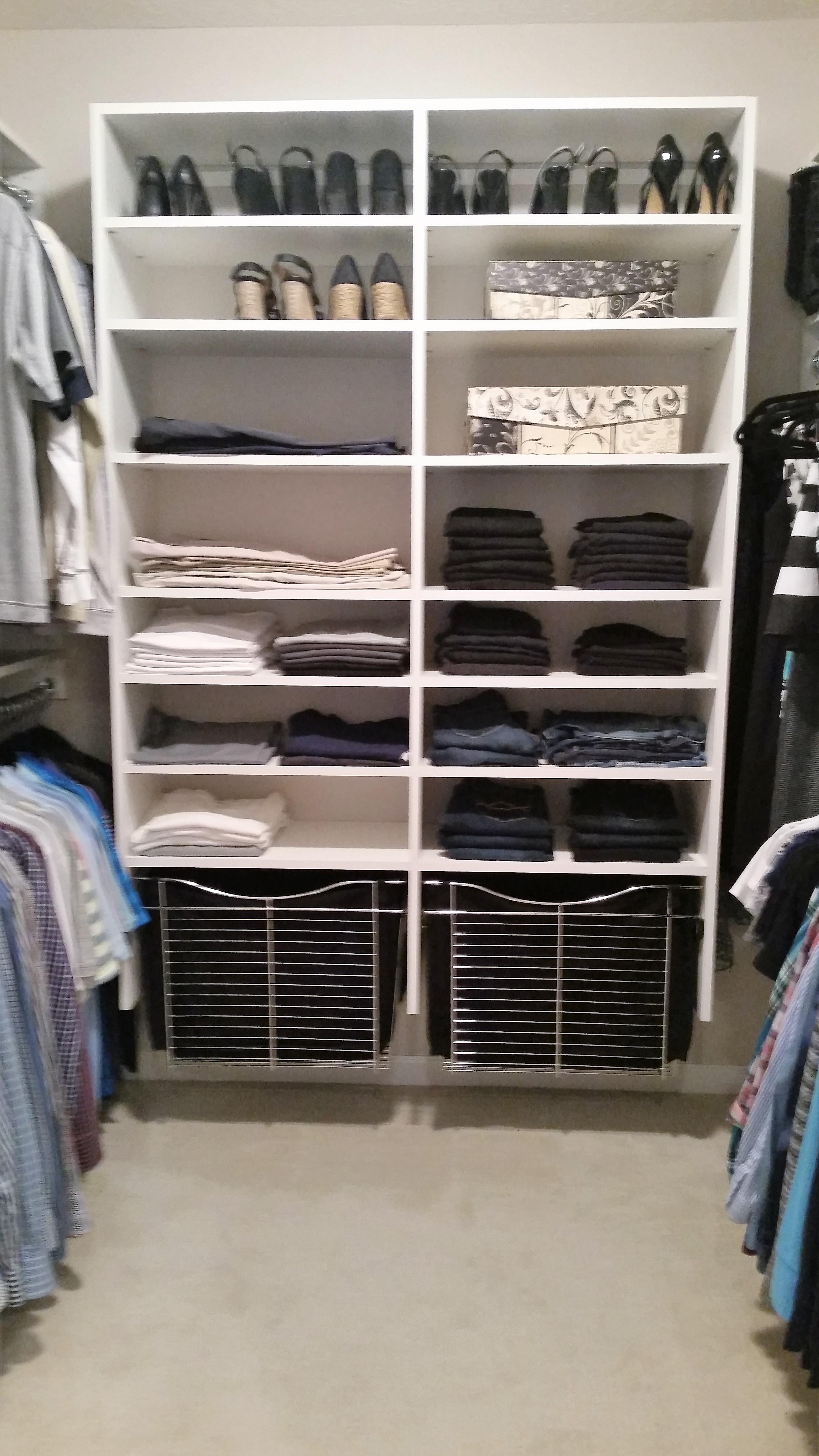 Closet after M