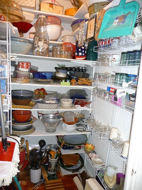 unorganized pantry