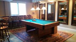 organized pool room