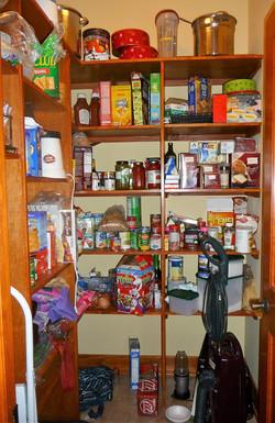 pantry before organizing